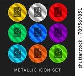 html 9 color metallic chromium... | Shutterstock .eps vector #789569851