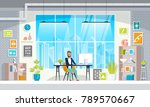 office workplace with table ... | Shutterstock .eps vector #789570667