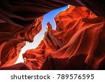 lower antelope canyon  navajo... | Shutterstock . vector #789576595