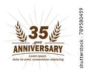 35 years anniversary logo.... | Shutterstock .eps vector #789580459