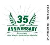35 years anniversary logo.... | Shutterstock .eps vector #789580465