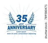 35 years anniversary logo.... | Shutterstock .eps vector #789580471