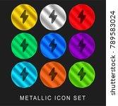light bolt 9 color metallic... | Shutterstock .eps vector #789583024