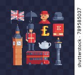 united kingdom icons. british... | Shutterstock .eps vector #789585037