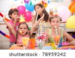 Children At Birthday Party