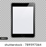 new realistic tablet pc...   Shutterstock .eps vector #789597364