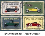 vector retro cars from the... | Shutterstock .eps vector #789599884