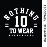 stylish trendy slogan tee t...   Shutterstock .eps vector #789600031