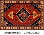 persian carpet  tribal vector... | Shutterstock .eps vector #789602869