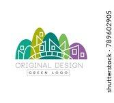 original flat landmark with... | Shutterstock .eps vector #789602905