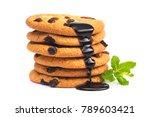 sweet biscuit with raisin...   Shutterstock . vector #789603421