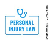 personal injury law. flat... | Shutterstock .eps vector #789605581