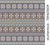 abstract ethnic stripe pattern  ... | Shutterstock .eps vector #789605839