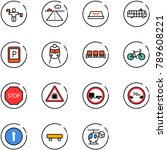 line vector icon set   traffic... | Shutterstock .eps vector #789608221