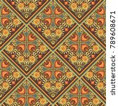 vector abstract patch pattern.... | Shutterstock .eps vector #789608671