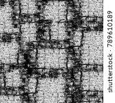 grunge black and white pattern. ... | Shutterstock . vector #789610189