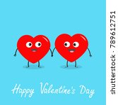 happy valentines day sign... | Shutterstock .eps vector #789612751