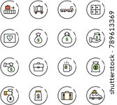 line vector icon set   baggage...