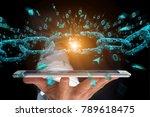 view of a weak link of a broken ... | Shutterstock . vector #789618475
