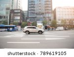 blurred of cars driving on the... | Shutterstock . vector #789619105