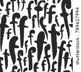 vector seamless pattern with... | Shutterstock .eps vector #789627994