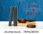 judge and justice | Shutterstock . vector #789628054