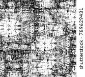 grunge black and white pattern. ... | Shutterstock . vector #789629431