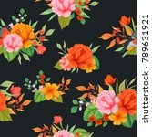 seamless pattern with colorful... | Shutterstock .eps vector #789631921