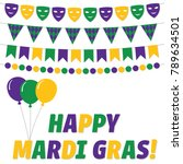 happy mardi gras  vector... | Shutterstock .eps vector #789634501