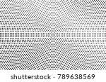 black white dotted texture.... | Shutterstock .eps vector #789638569