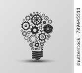 creative lamp light bulb gear... | Shutterstock .eps vector #789645511