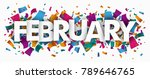 colored confetti with text...   Shutterstock .eps vector #789646765