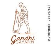 illustration of gandhi jayanti  ... | Shutterstock .eps vector #789647617