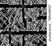 grunge black and white pattern. ... | Shutterstock . vector #789648907