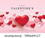 happy valentines day romance... | Shutterstock .eps vector #789649117