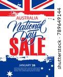 australia national day  january ... | Shutterstock .eps vector #789649144