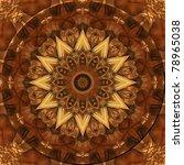 Kaleidoscope In Earth Tones