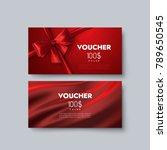 gift voucher templates. set of... | Shutterstock .eps vector #789650545