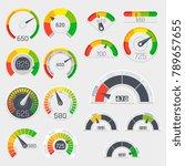 business credit score vector... | Shutterstock .eps vector #789657655