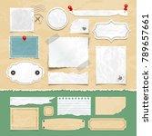 vintage scrapbooking vector... | Shutterstock .eps vector #789657661