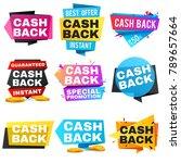 money cash back vector labels... | Shutterstock .eps vector #789657664