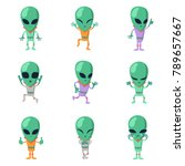 Funny Cartoon Aliens Vector...
