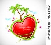 illustration of love bird... | Shutterstock .eps vector #78965860