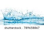 water splash with reflection | Shutterstock . vector #789658867