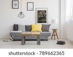 simple  industrial interior...   Shutterstock . vector #789662365
