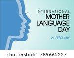 international mother language... | Shutterstock .eps vector #789665227