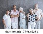 group of seniors leaning...   Shutterstock . vector #789665251