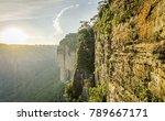 rugged rock formation along...   Shutterstock . vector #789667171