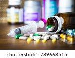 drug prescription for treatment ... | Shutterstock . vector #789668515