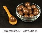 chocolate balls on the kitchen... | Shutterstock . vector #789668641